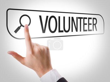 Volunteer written in search bar