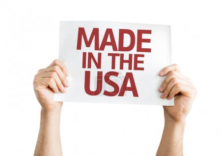 Photo pour Fait dans la carte Usa isolée sur fond blanc - image libre de droit