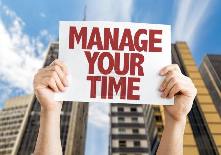 Manage Your Time placard
