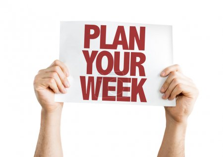 Plan Your Week placard