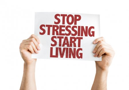 Stop Stressing Start Living placard