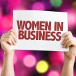 Women In Business placard with bokeh background...
