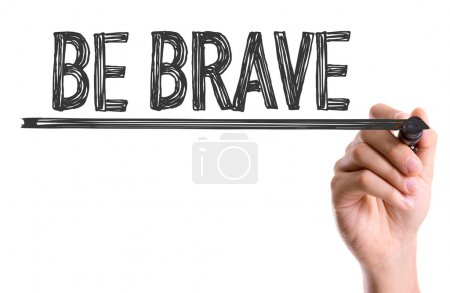 Photo for Hand with marker writing the words Be Brave - Royalty Free Image