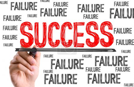 Photo for Hand with marker writing the words Success Failure - Royalty Free Image