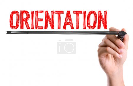 Photo for Hand with marker writing the word Orientation - Royalty Free Image