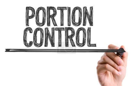 Photo for Hand with marker writing the text: Portion Control - Royalty Free Image
