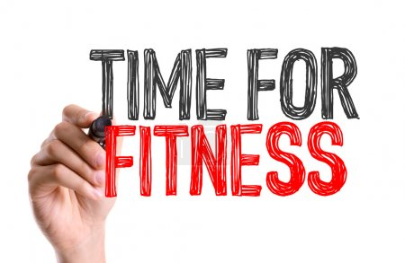 Photo for Hand with marker writing text: Time for Fitness - Royalty Free Image