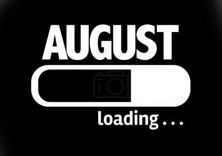 Bar Loading with the text: August
