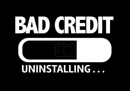 Bar Uninstalling with the text: Bad Credit