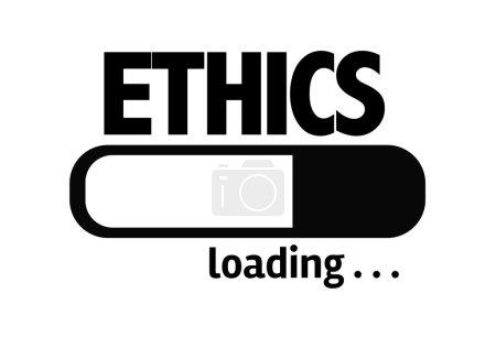 Photo pour Barre de progression Chargement du texte : Éthique - image libre de droit