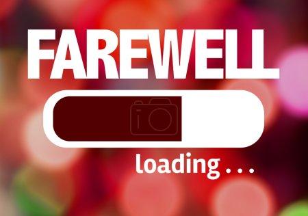 Photo pour Progress Bar de chargement avec le texte : adieu - image libre de droit