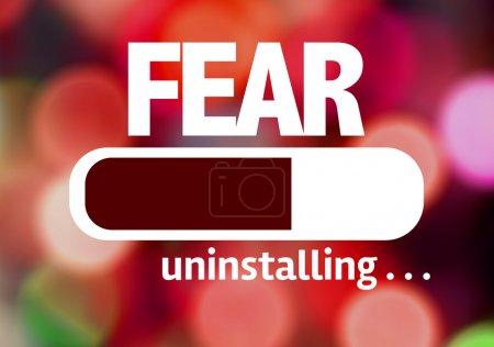 Photo pour Désinstallation de barre de progrès avec le texte : la peur - image libre de droit