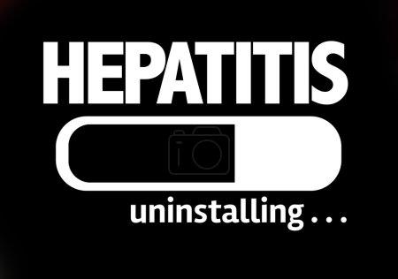Bar Uninstalling with the text: Hepatitis