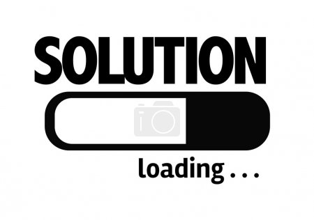 Photo pour Barre de progression Chargement du texte : Solution - image libre de droit