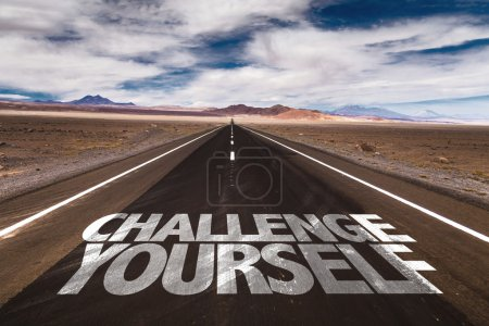 Challenge yourself on desert road