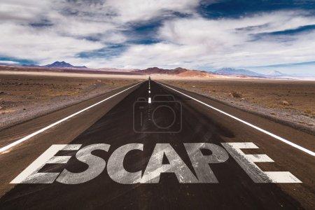 Escape on desert road