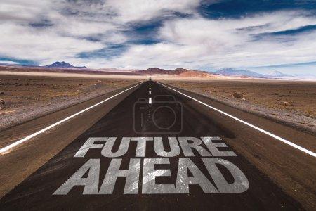 Future Ahead on desert road