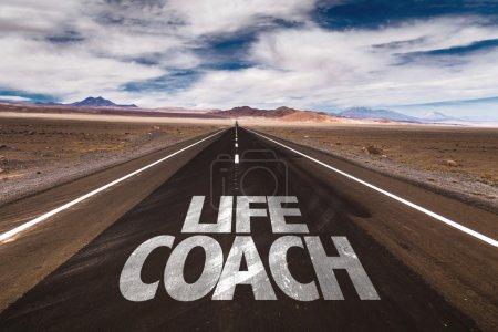 Life Coach on desert road