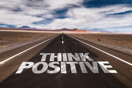 Think Positive on desert road