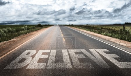 Believe on rural road