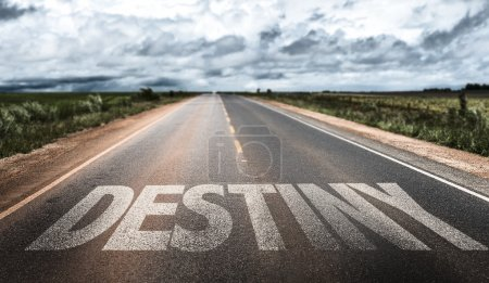 Destiny written on rural road...