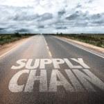 Supply Chain written on rural road...