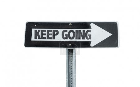 Keep Going direction sign