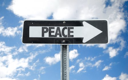 Peace direction sign
