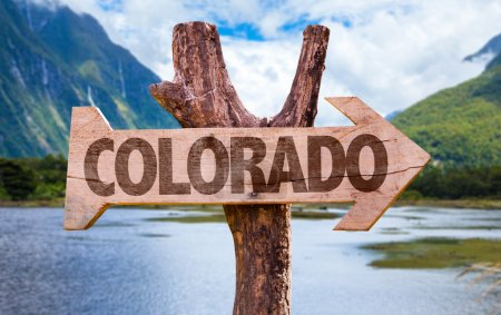 Colorado wooden sign