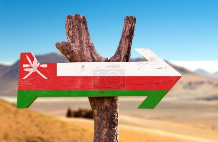 Oman Flag wooden sign