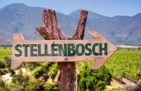 Stellenbosch wooden sign