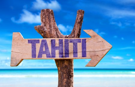 Tahiti wooden sign