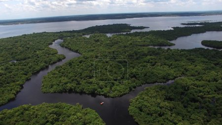 Photo pour Aerial Shot de forêt amazonienne au Brésil, en Amérique du Sud - image libre de droit
