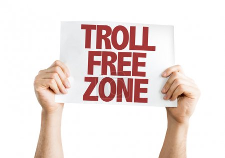Troll Free Zone placard