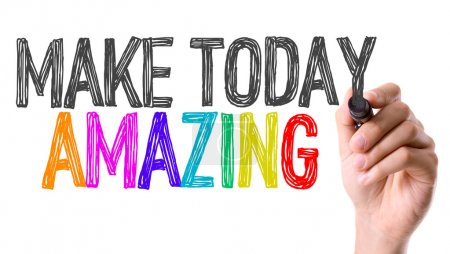 Photo for Hand with marker writing text: Make Today Amazing - Royalty Free Image