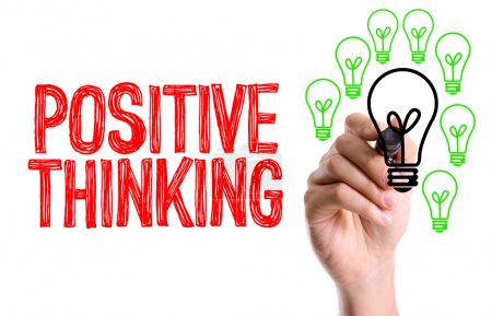 Photo for Hand with marker writing text: Positive Thinking - Royalty Free Image