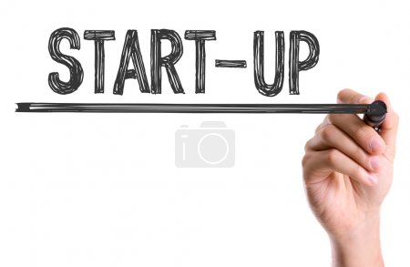Photo for Hand with marker writing text: Start-Up - Royalty Free Image