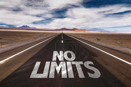 Photo for No Limits written on desert road - Royalty Free Image