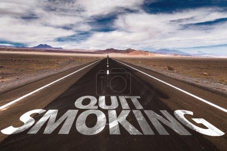 Quit Smoking written on road
