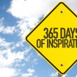 365 Days of Inspiration sign with sky background...