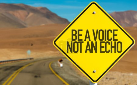 Be a Voice Not An Echo sign