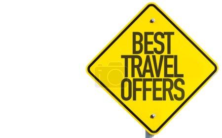 Photo pour Meilleures offres de voyage signe isolé sur fond blanc - image libre de droit