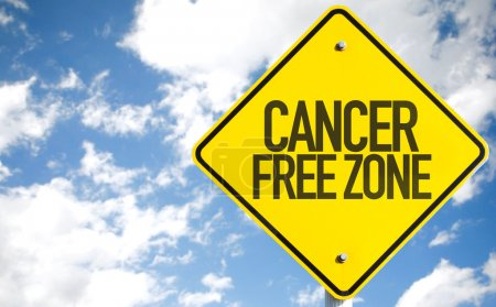 Cancer Free Zone sign