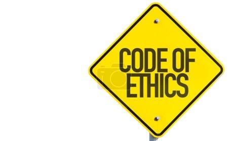 Photo pour Code de déontologie signe isolé sur fond blanc - image libre de droit