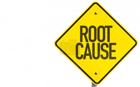 Photo for Root Cause sign isolated on white background - Royalty Free Image