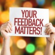Your Feedback Matters placard with bokeh backgroun...
