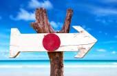 Japan Flag wooden sign