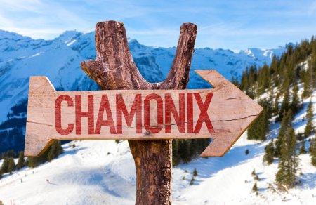 Chamonix wooden sign