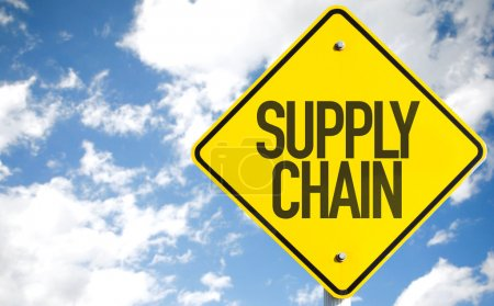 Photo for Supply Chain sign with sky background - Royalty Free Image