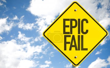 Photo for Epic Fail sign with sky background - Royalty Free Image